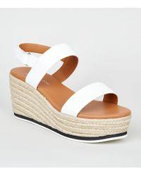 c97f1d34817 John Lewis Gabor Lisette Wide Fit Cross Strap Sandals in Metallic - Lyst