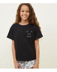 New Look - Girls Light Grey Cat Leopard Print Pyjama Set - Lyst