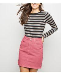 dddd4eab28 New Look Red Denim Mini Skirt in Red - Lyst