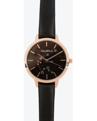 New Look - Black Strap Cancer Star Sign Watch - Lyst