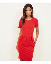 Apricot - Red Scuba Tulip Dress - Lyst
