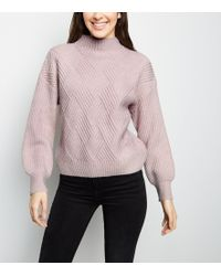 5461cc49b7dc0d Ballantyne Diamond Knit Sweater in Black - Lyst