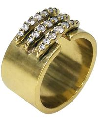 Nicole Miller - Sweet Peas Cigar Band Ring - Lyst