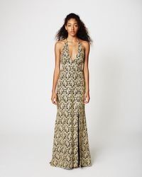 Nicole Miller - Gold Paisley Gown - Lyst
