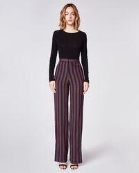 Nicole Miller - Earhart Stripe Trousers - Lyst