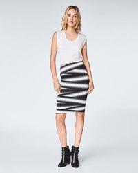 Nicole Miller - Bandage Stripe Skirt - Lyst