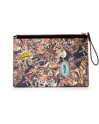 Nicole Miller - Comic Tiger Pouch - Lyst