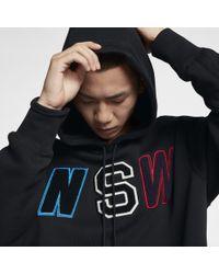 Nike - Felpa Loose Fit in fleece con cappuccio Sportswear NSW - Lyst
