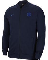 dcb4c24fb Nike Chelsea Fc Anthem Football Jacket in Blue for Men - Lyst