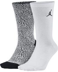 Nike - Jordan Elephant Print Crew Socks (2 Pair) - Lyst