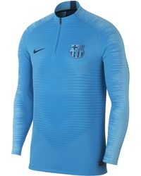 fc7d8cb98 Nike - Fc Barcelona Vaporknit Strike Drill Long-sleeve Football Top - Lyst