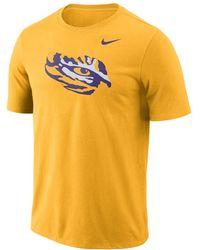 new styles 53d0e 62355 Nike - College Logo (lsu) Men s T-shirt - Lyst