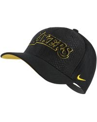 Nike - Los Angeles Lakers City Edition Classic99 Nba Hat (black) - Clearance Sale - Lyst