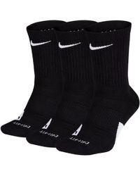 Nike - Elite Crew Basketball Socks (3 Pairs) - Lyst