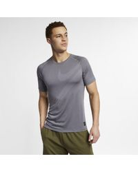 1a491b1da3 Nike Breathe Men's Short Sleeve Training Top in Gray for Men - Lyst