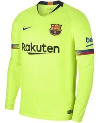 Nike - 2018/19 Fc Barcelona Stadium Away Long-sleeve Football Shirt - Lyst