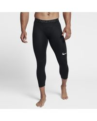 59d84b54411d9 Lyst - Nike Pro Men's Training 3/4 Training Tights in Black for Men