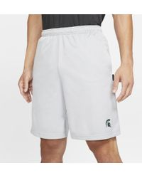 Nike College Fly (michigan State) Men's Knit Shorts in Black