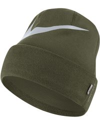 Nike Swoosh Cuffed Training Knit Hat in Blue - Lyst 6d5c94e4590