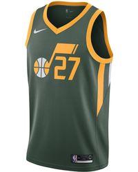 Nike Rudy Gobert Earned Statement Edition Swingman (utah Jazz) Nba Connected Jersey - Green