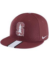 detailed look 1cae6 bd953 ... low price nike college sideline true stanford adjustable hat red lyst  96708 d3806