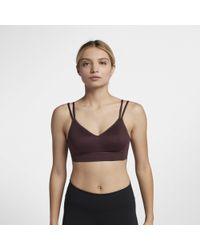 Nike - Indy Breathe Light Support Sports Bra - Lyst