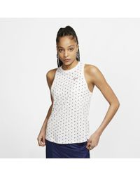 ff390570ccf Nike Air High Neck Cropped Tank In White in White - Lyst