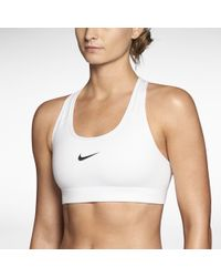 f2e6695a948d3 Nike Pro Fierce Drifit Stretchjersey Sports Bra in Yellow - Lyst