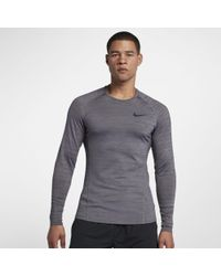 dbd4e756 Nike Pro Warm Long Sleeve Compression Shirt in White for Men - Lyst