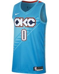a30a33d1f8c1 Nike - Russell Westbrook City Edition Swingman (oklahoma City Thunder) Nba  Connected Jersey -