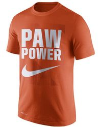 9aa56cf1 Lyst - Nike College Dri-fit Touch (clemson) Men's Training Shirt in ...