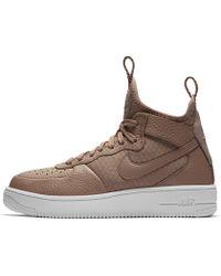 9084420aba2b Lyst - Nike Air Force 1 Ultraforce Mid Women s Shoe in Black - Save 13%