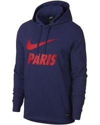 4378df27e5b84a Nike Paris Saint-germain Jumpman Pullover Hoodie in Black for Men - Lyst