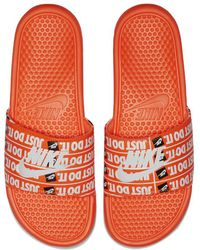 Nike - Benassi Just Do It Print Men's Slide Sandal - Lyst