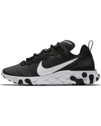 Nike - W React Element 55 Black/ White - Lyst