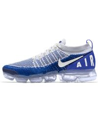 15f2ca1dd193 Lyst - Nike Flyknit Air Max Id Men s Running Shoe in Blue for Men