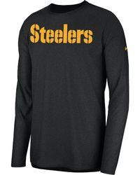 b96d4646d8d0 Nike - Dri-fit Player (nfl Steelers) Men s Long Sleeve Top - Lyst