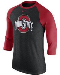 Nike - College Tri-blend Logo Raglan (ohio State) Men's 3/4 Sleeve T-shirt - Lyst