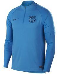 Nike - Fc Barcelona Dri-fit Squad Drill Long-sleeve Football Top - Lyst