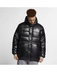 9a065c20c8b9 Nike Jordan Lifestyle Hooded Down in Black for Men - Lyst