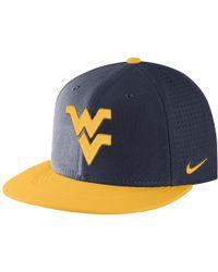 Nike | College Aerobill True (west Virginia) Adjustable Hat (blue) | Lyst