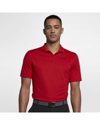 73df272b50 Nike Tw Dry Blur Stripe Men's Standard Fit Golf Polo Shirt in Red for Men -  Lyst