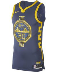 Nike - Maillot connecté NBA Stephen Curry City Edition Authentic (Golden State Warriors) pour Homme - Lyst