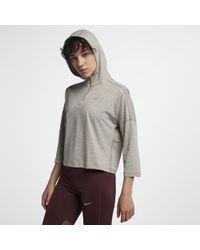 caa6bb23b642 Nike - Element Women s Running Hoodie - Lyst