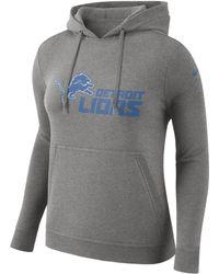 9ac490b2 Nike Detroit Lions Club Pullover Hoodie in Black - Lyst