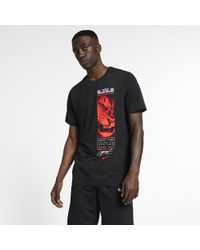 724f4f5b5 Nike Lebron James Dry Famous T-shirt in Black for Men - Lyst