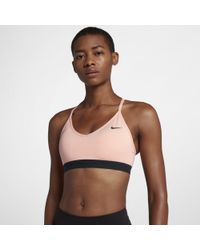 5a793e2663192 Nike Indy Light-support Sports Bra in Pink - Lyst