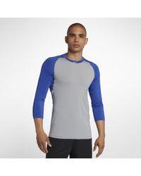 6f892ed52f27 Lyst - Nike Pro Men s Long Sleeve Training Top in Blue for Men