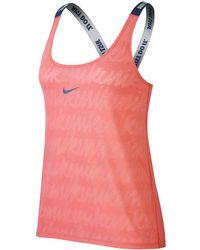 cb2e73aca02829 Lyst - Nike Elastika Keyhole Veneer Women s Training Tank Top in Gray