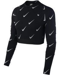 Nike - Sportswear Metallic Long-sleeve Crop Top - Lyst
